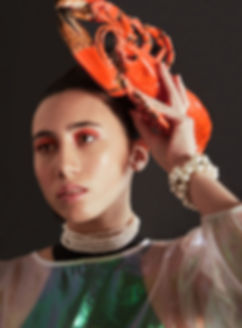 marie allain photo,Maya & Lobster ceramic,beauée ,orange mood ,photo bijoux  .jpg