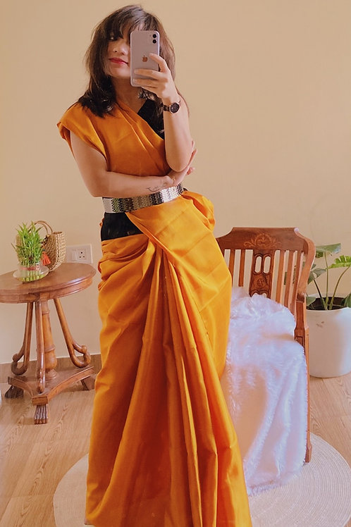 Kanjeevaram plain silk saree