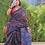 Thumbnail: Handwoven single ikkat patola saree cotton