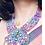 Thumbnail: Handcrafted statement neckpiece beads and felt