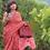 Thumbnail: Handwoven single ikkat cotton patola saree