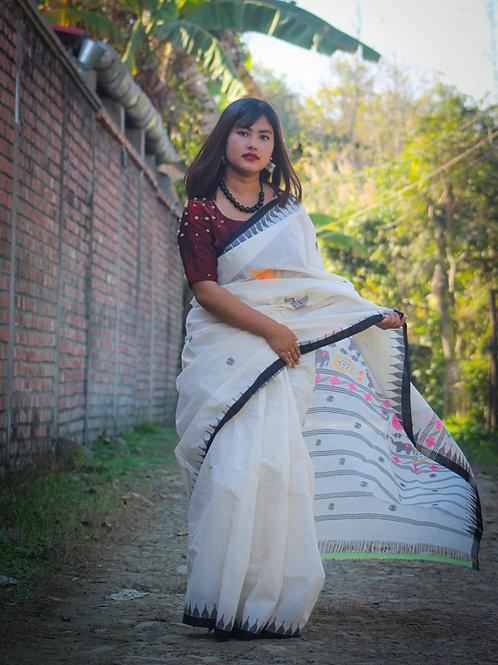 Cotton Moiramgphee saree