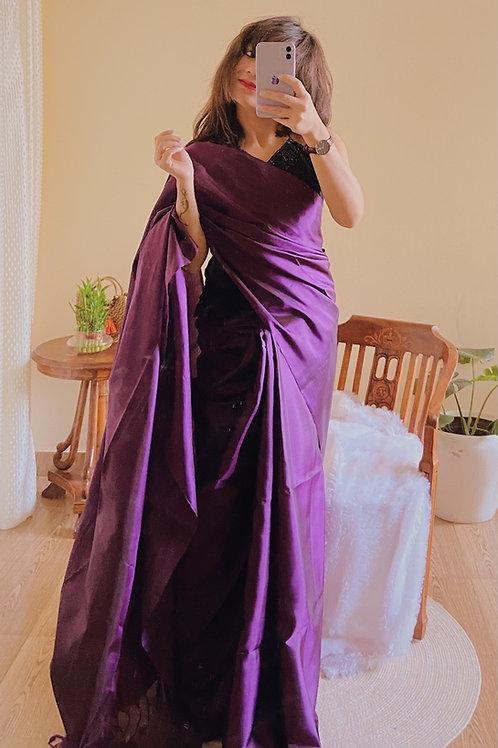 Handloom Kanjeevaram Plain silk saree
