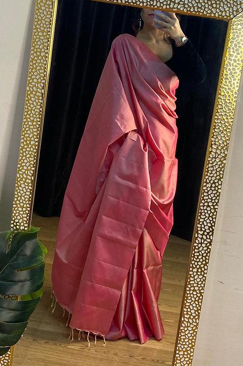 Kanjeevaram silk plain saree