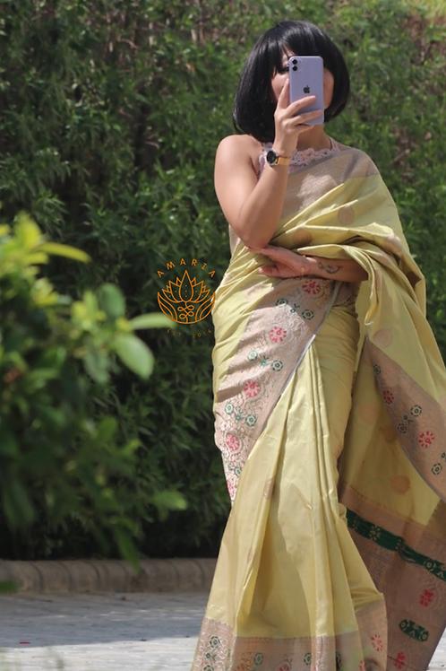 Handloom Banarasi pure kataan silk saree
