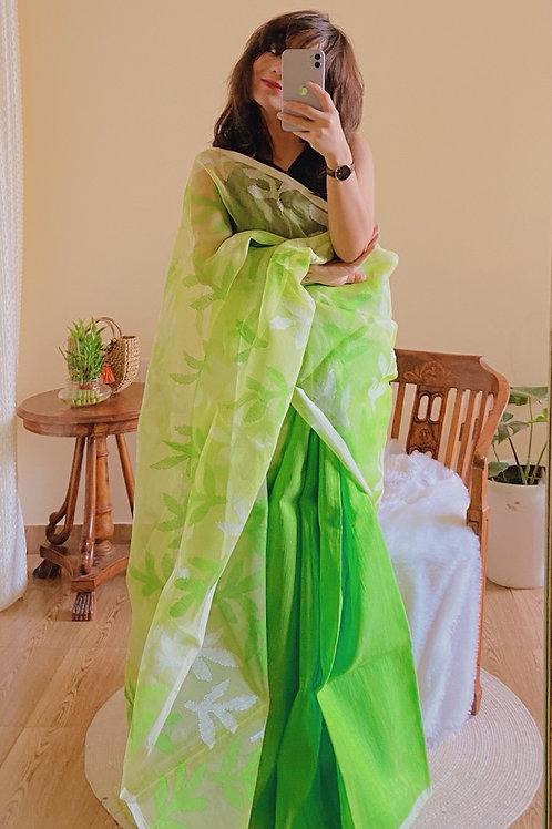 Matka silk half ,muslin silk half jamdani woven motifs