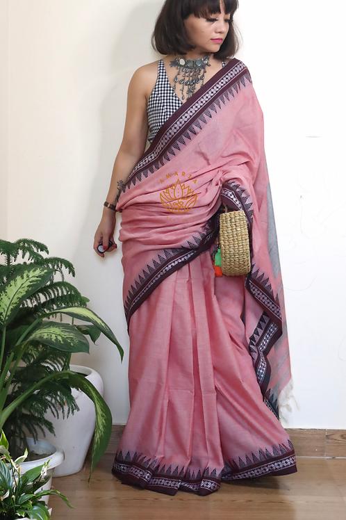 Handloom pure cotton begampuri saree