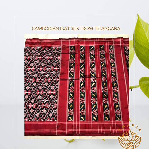 Cambodian ikat silk from Telangana ( please confirm stock on whatsapp)