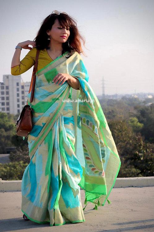 Handloom Banarasi Matka silk saree