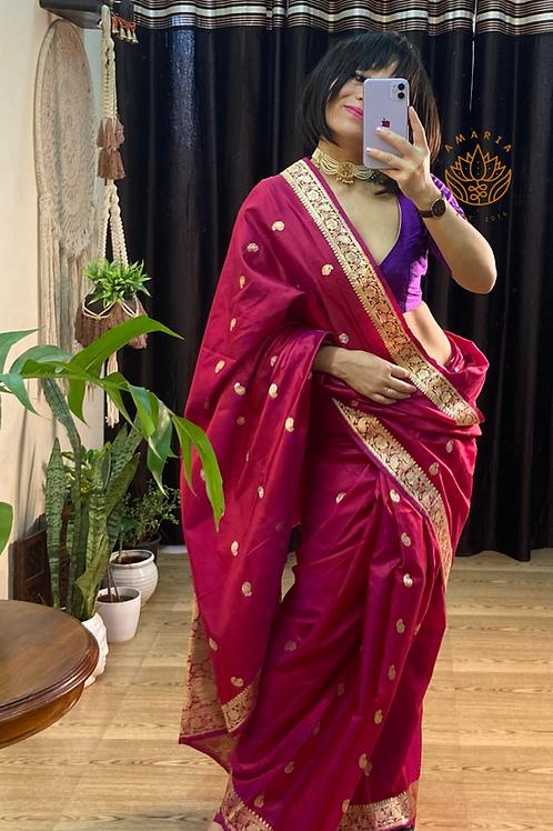 Handloom banarasi katan silk saree