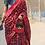 Thumbnail: Handloom Pochampally ikat silk saree