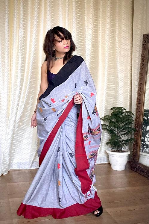 Assam handloom cotton saree kaziranga