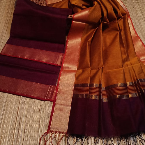 Handloom maheshwari kurta+duppata
