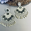 Thumbnail: Handcrafted statement earing beads and felt