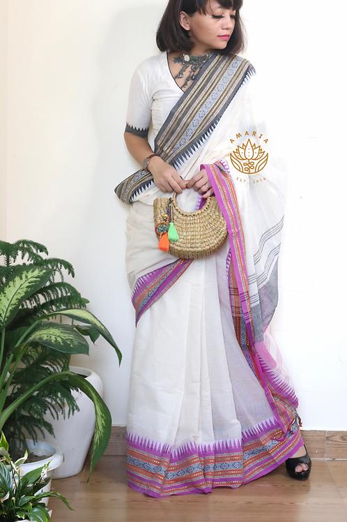 Handloom pure cotton begmpuri saree