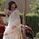Thumbnail: Pure linen handloom saree with multicolor woven THREAD MOTIFS