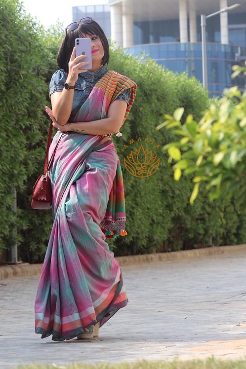 Handloom Bhujodi saree