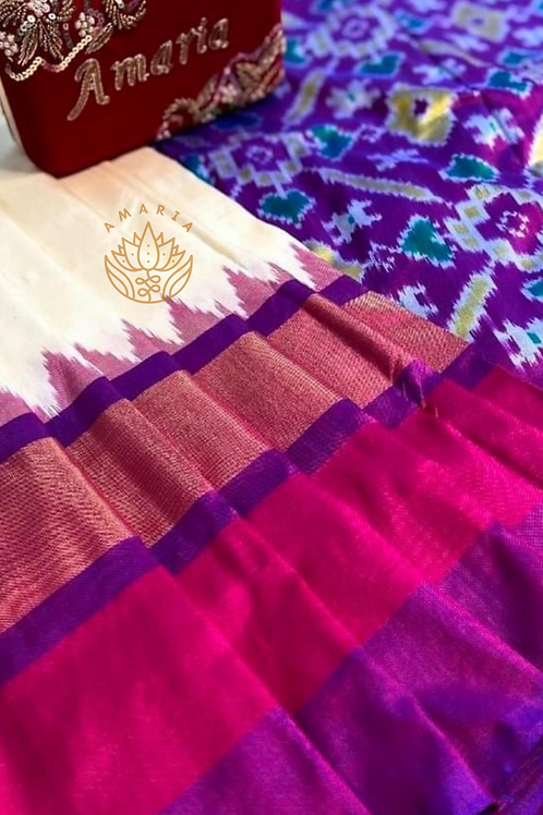 Handloom Pochampally ikat silk