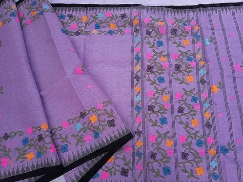 Cotton moirangphee saree floral border