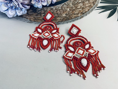 Handcrafted statement earing