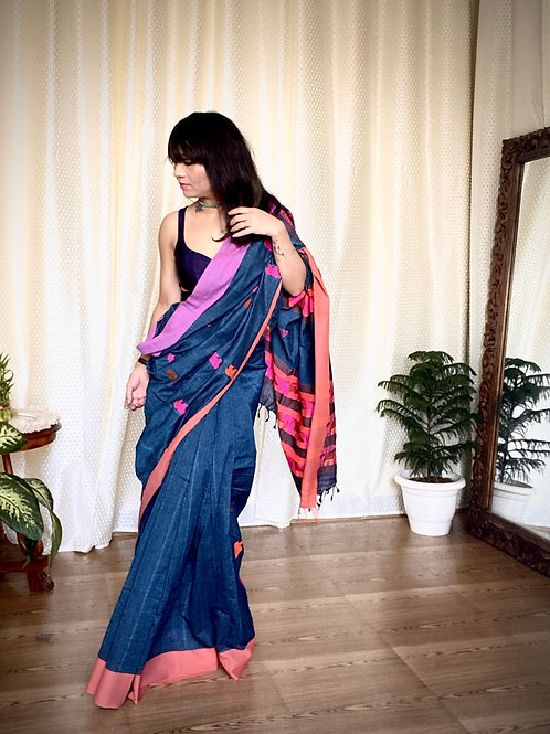 Handloom Assam cotton kaziranga motif