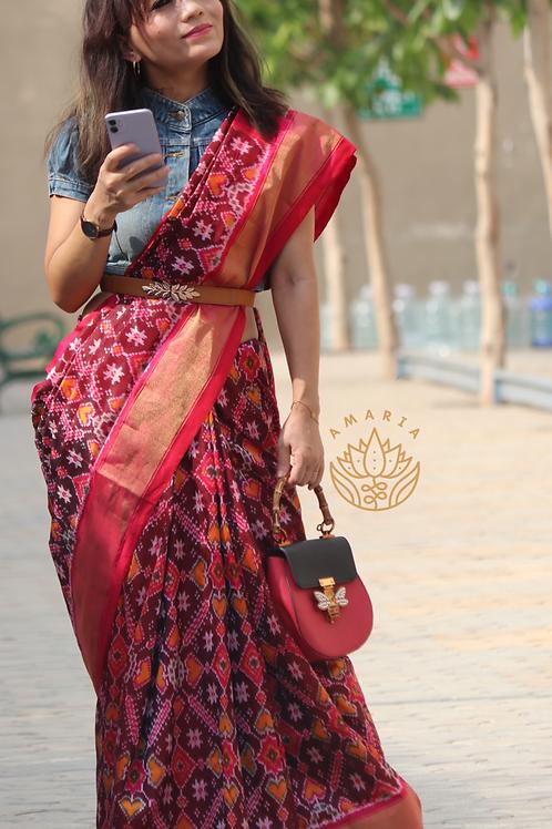 Handloom Pochampally ikat silk saree