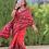 Thumbnail: Handwoven single ikkat patola saree- cotton
