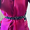 Thumbnail: Elastic waist belt with metal chevron overlay
