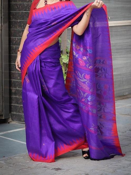 Moirangphee mulberry silk saree