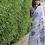 Thumbnail: Pure linen handwoven saree with indigo thread woven motifs