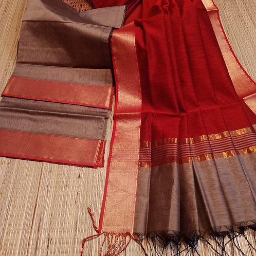 Handloom maheshwari suit piece