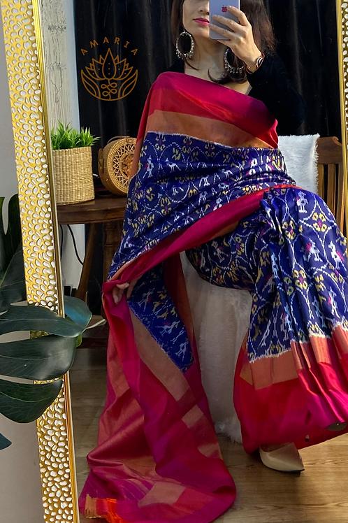 Handloom Pochampaly ikat silk saree