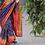 Thumbnail: Handwoven single ikkat patola silk saree