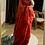 Thumbnail: Handwoven Pure Linen saree with jamdani motifs