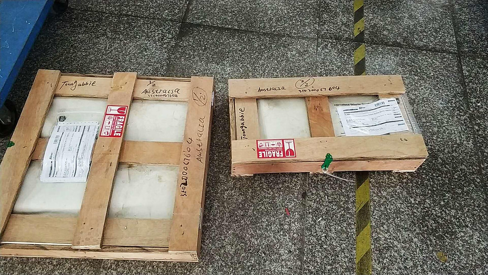 Granite Stone Pavers with Packaging
