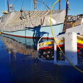 Testing dredging skid in Stavanger
