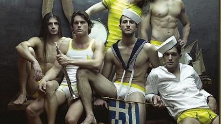 Greek men in underwear, gay models, sailors