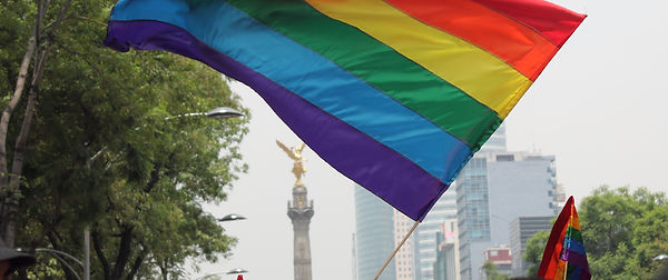 Rainbow flag in the streets of Mexico City