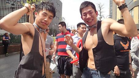 Boys in Tokyo gay pride, Japan