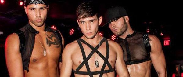 Dancers at gay club in Las Vegas