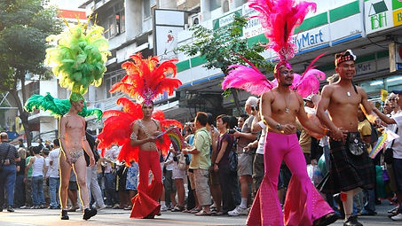 Gay parade in Silom, Bangkok, Thailand