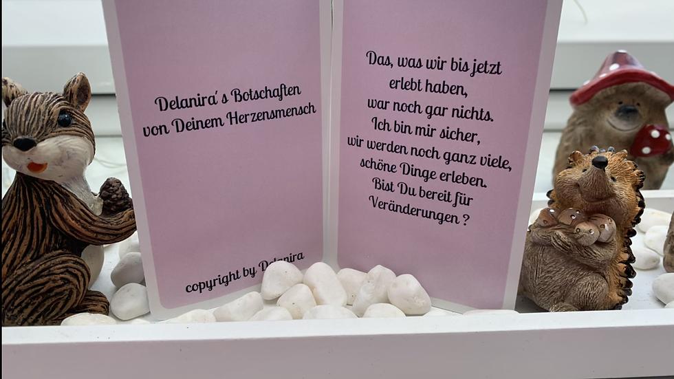 Delanira's Botschaften von Deinem Herzensmensch