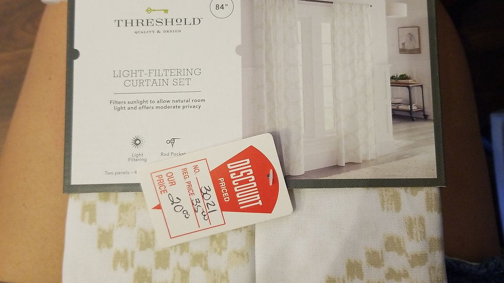Threshold Light Filtering Curtsin Set