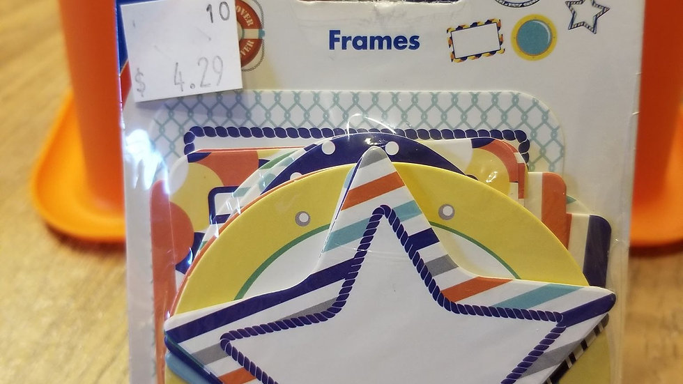 Colorful frames cutouts