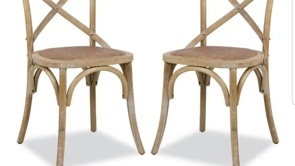 Pair of crossback chairs