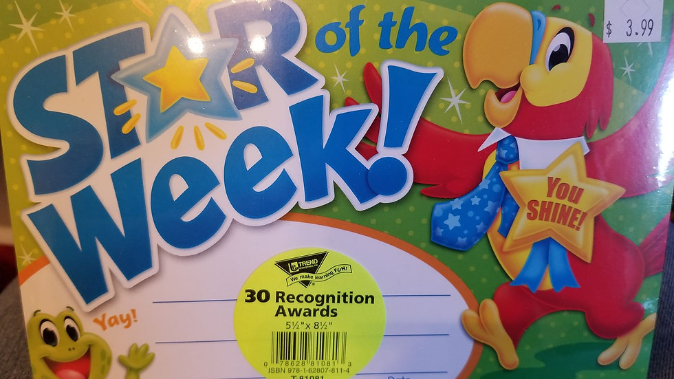 Star of the week recognition awards