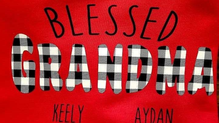 Blessed Grandma Customizable crewneck sweatshirt
