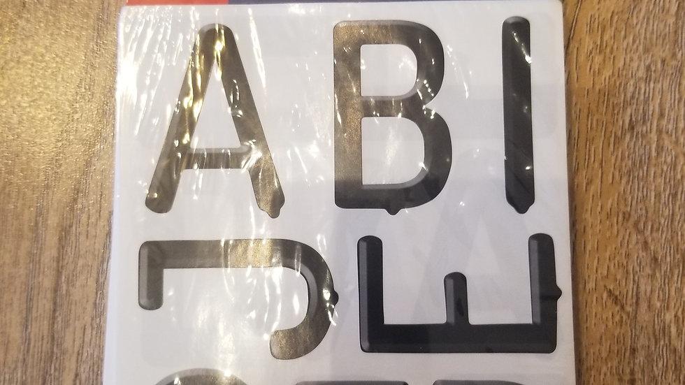Black Letter Board Stickers