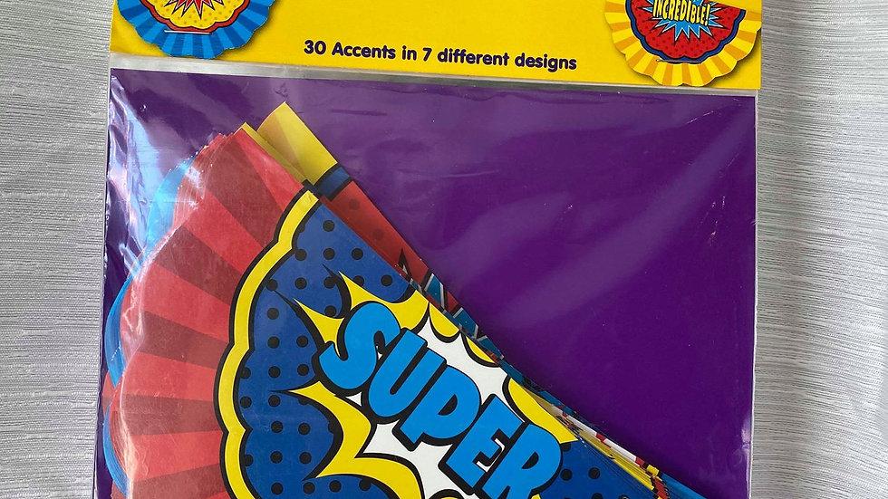 SuperHero Bunting Cutouts