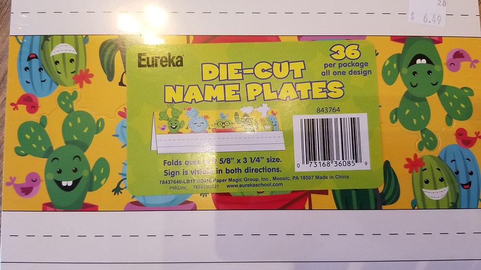 Eureka Die Cut Name Plates ( Cactus)